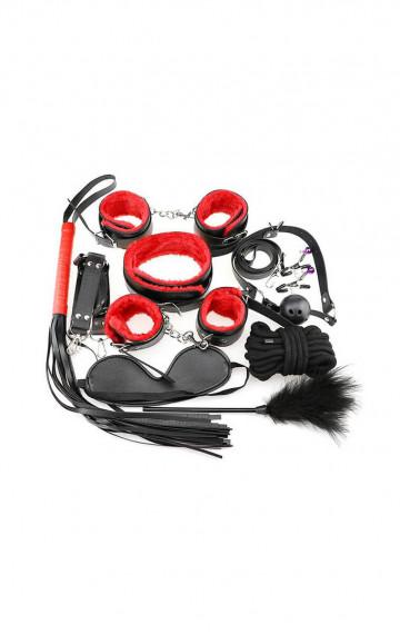 Комплект за връзване - черен с червено