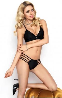 Комплект със секси бикини - черен Ness