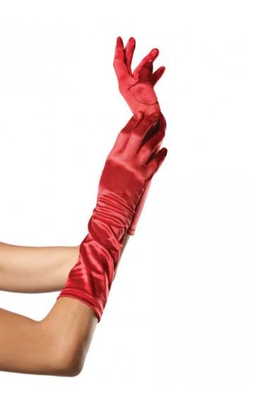 Сатенени дълги ръкавици