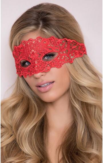 Червена дантелена маска за очи