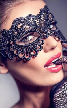 Черна дантелена маска за очи
