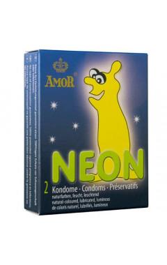 Светещи презервативи Amor Neon 2 бр.