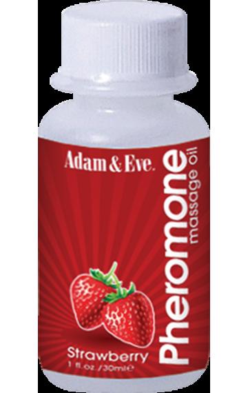 Масажно олио с феромони и аромат на ягода