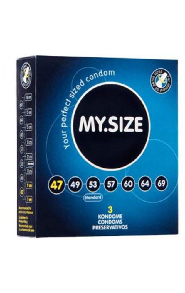 """Презервативи """"MY SIZE"""" 47 мм - 3 бр."""