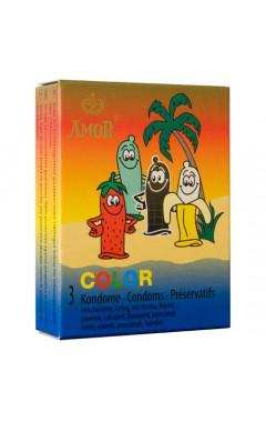 Презервативи Amor Color 3 бр.