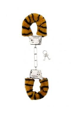 Белезници с пух тигър